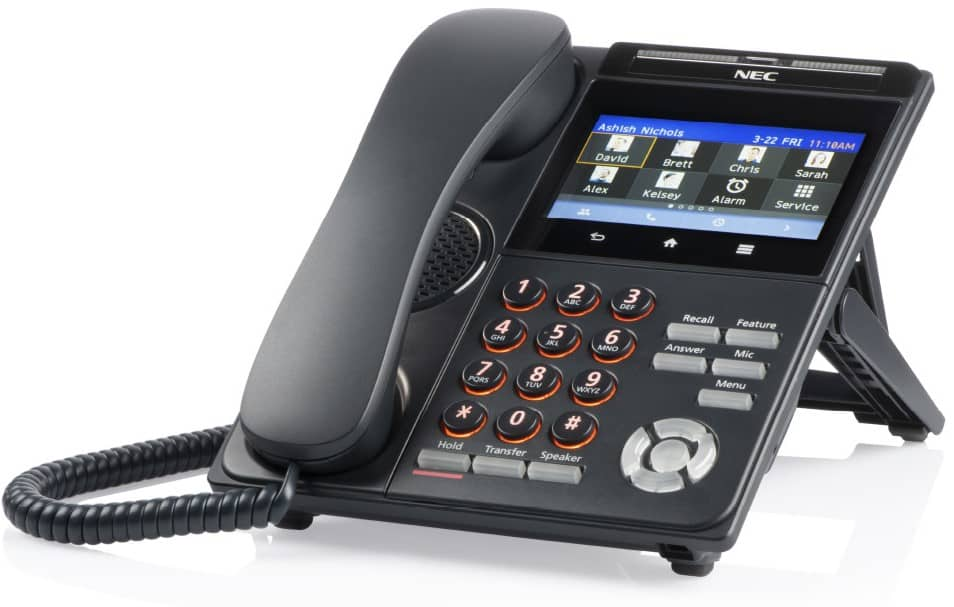 NEC DT930 Business Phone with touch display